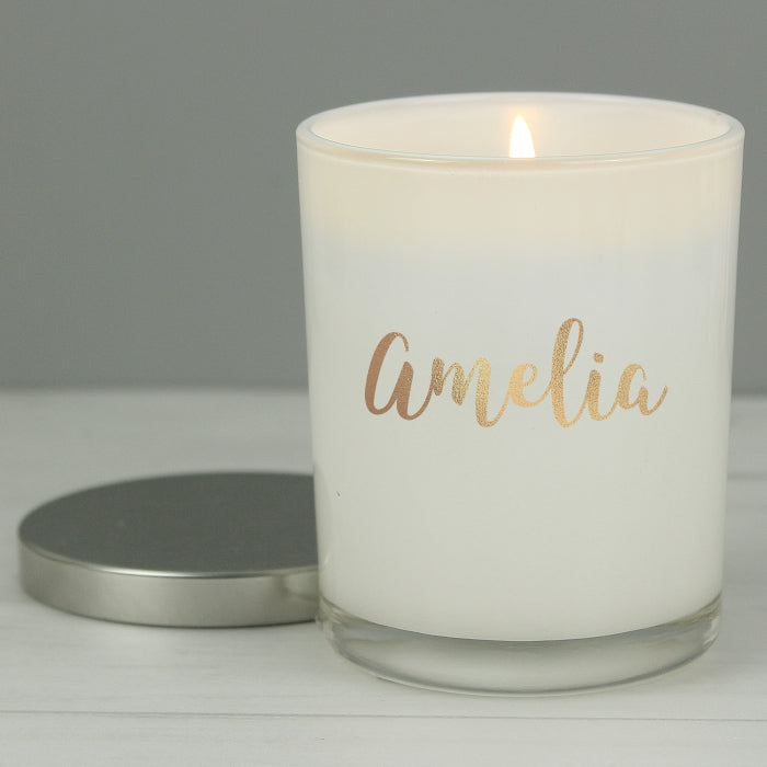 Personalised Scented Candle with Lid