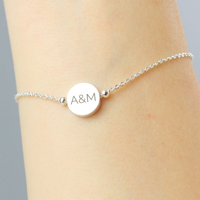 Personalised Silver Plated Disc Bracelet from SommerSparkle