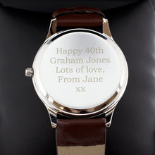 Personalised Silver Watch