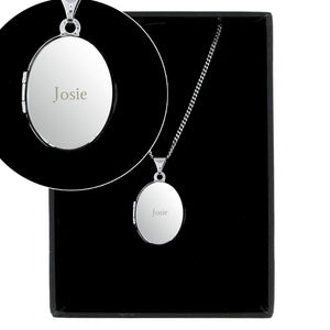 Personalised Sterling Silver Locket Necklace