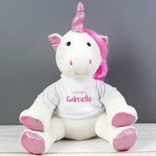 Personalised Unicorn Cuddly Toy