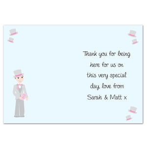 Personalised Wedding Thank You Card for Him