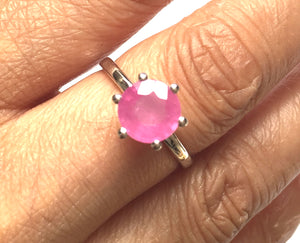 Pink Sapphire & Sterling Silver Ring
