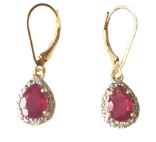Royal Ruby and Diamond Earrings by SommerSparkle