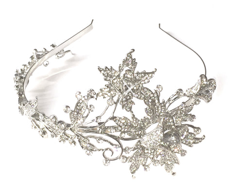 'Royal Flower' Tiara, This elegant, graceful and beautiful tiara headband is created with premium Austrian crystals