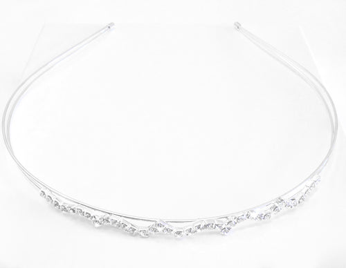 'Serenity' Crystal Tiara, ideal for a subtle yet elegant look or to wear at Parties or Special Occasions