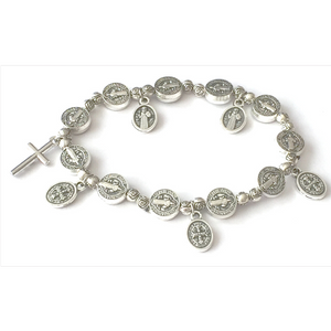 Silver Religious Bracelet by SommerSparkle