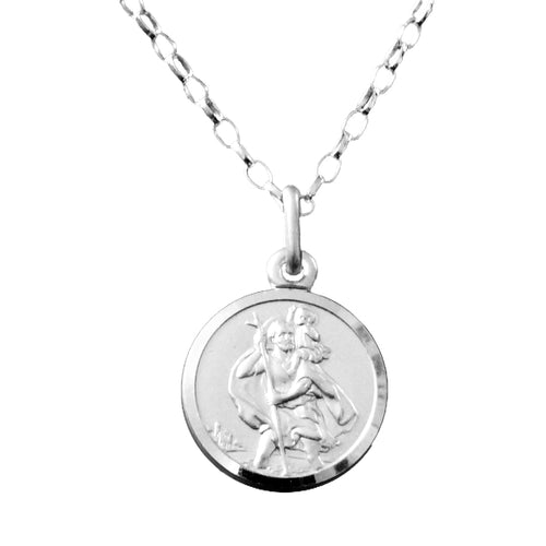 Saint Christopher Necklace, This high quality sterling silver St. Christopher Necklace would make an ideal gift for Communion, Confirmation, Baptism, Christening or any time of the year. It also comes gift boxed