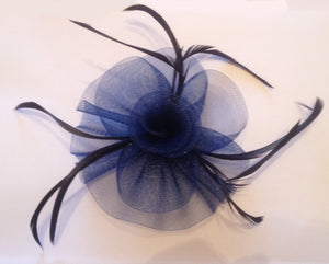 Blue Fascinator, Suitable for any occasion including cocktail parties, a day at the races, corporate events, funerals and other formal occasions