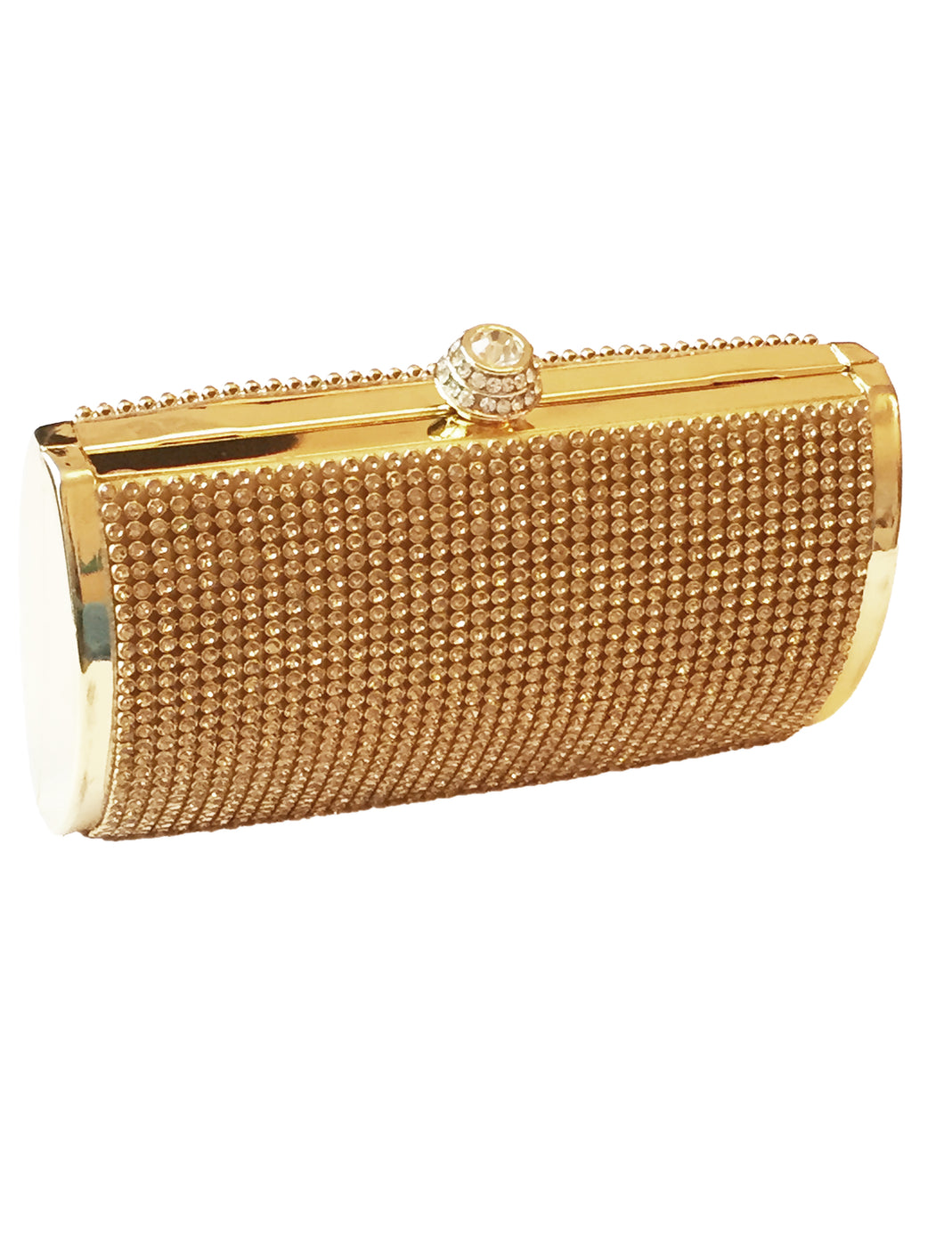 Gold Crystal Clutch Bag, This Gorgeous, Glamorous Gold clutch bag portrays luxury at its finest