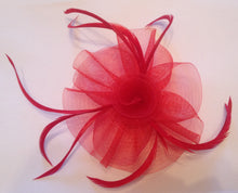 Red Fascinator, Suitable for any occasion including cocktail parties, a day at the races, corporate events, funerals and other formal occasions