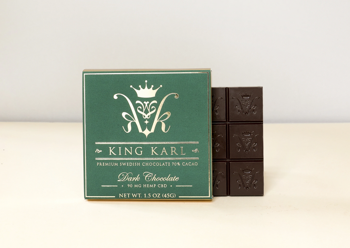 delicious treat combining chocolate with organic broad-spectrum CBD, known for creating an overall sense of calm