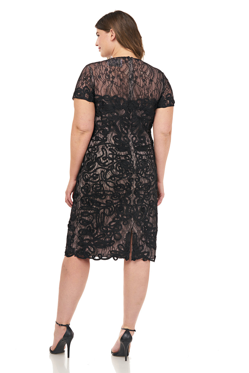 Soutache Embroidered Cocktail Dress