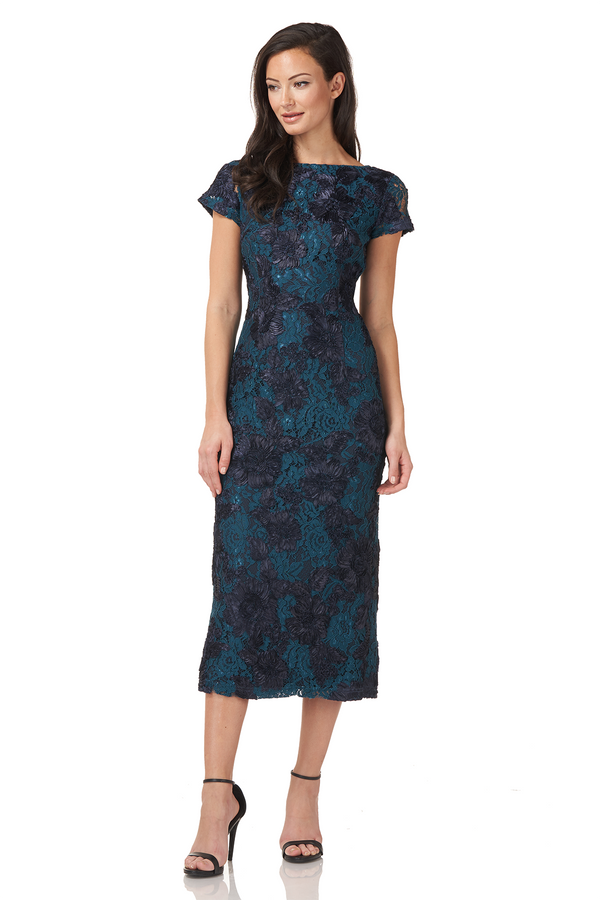 Floral Soutache Cocktail Dress
