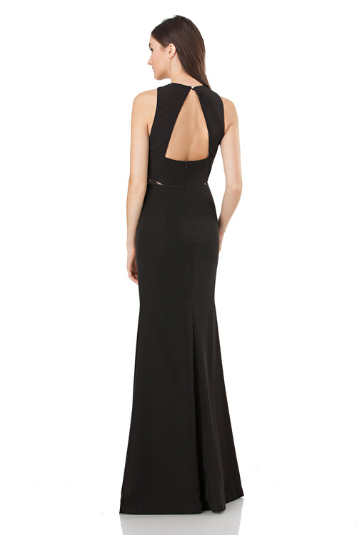 Stretch Crepe Halter Mermaid Gown