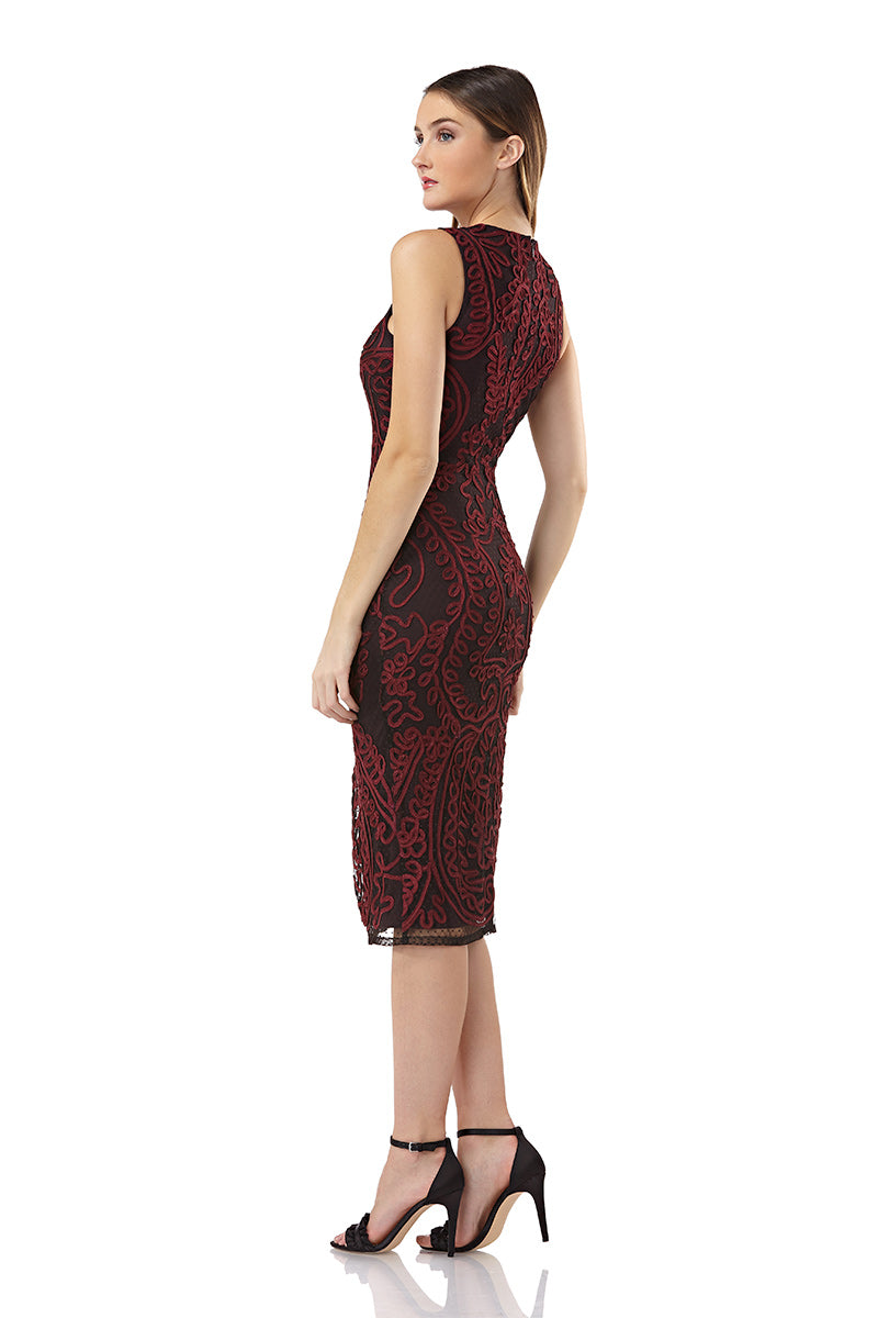 Soutache Embroidered Halter Dress