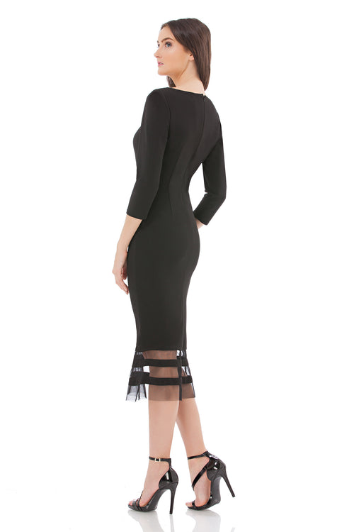 Illusion Ottoman Midi Dress