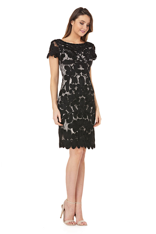 9926e0e308 Embroidered On Lace Cocktail Dress