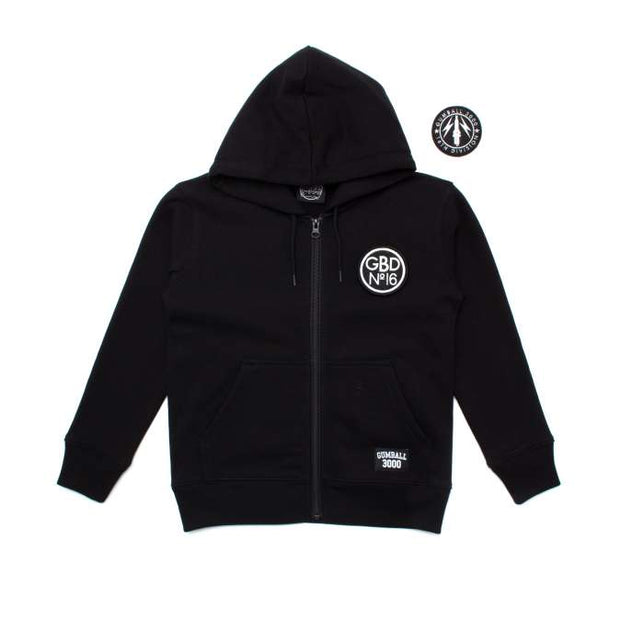 KIDS PATCH ZIP HOOD