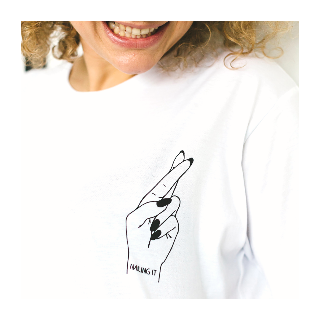 OH YAZ | nailing it T-shirt, ecofriendly, sustainable statement T-shirt with quote