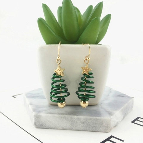 2020 New Merry Christmas Earrings Pendant Christmas Tree Snowflake Antelope Santa Claus Boots Earrings Jewelry Accessories