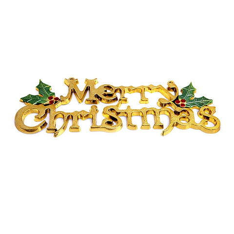 14cm Christmas Tree Decoration Shiny Merry Letter Card for Xmas Hanging Ornaments Portable Party Atmosphere Festival Accessories