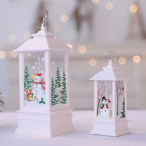 Fashion Christmas Candle with LED Tea Light Candles Christmas Tree Decoration Small Oil Lamp New Year Decorations for Home