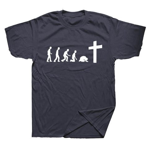 God is Love Jesus Evolution Real Men Pray T-Shirt Christian Shirt Jesus Religious Faith Christ T Shirt