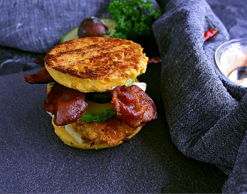 Bacon Cheddar Chicken Burgers - 12 (4 oz) Portions