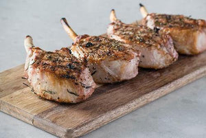 Frenched Pork Chops Box - 4 (12 oz) Portions