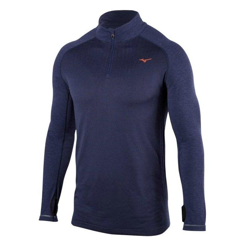 Men's Mizuno BT Seamless Half Zip Top-Apparel-33-Off.com