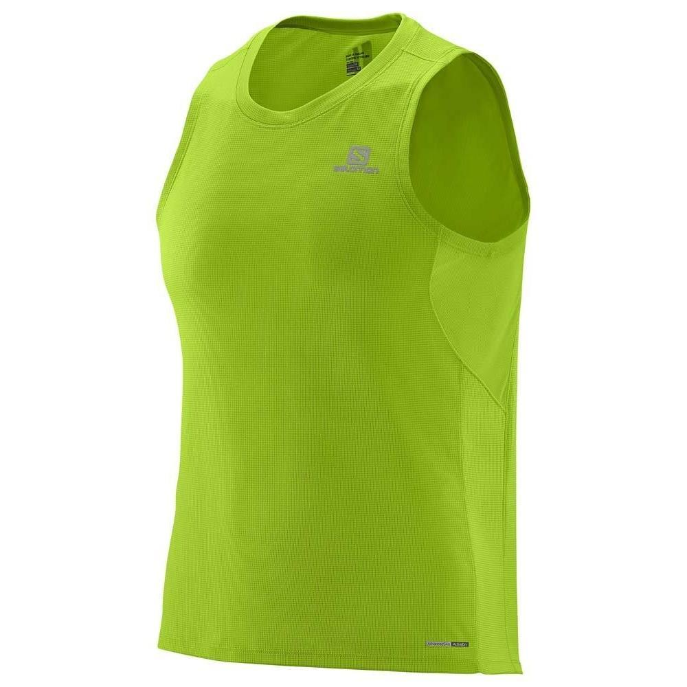 MEN'S SALOMON T-SHIRT AGILE TANK GRANNY GREEN-Apparel-33-Off.com