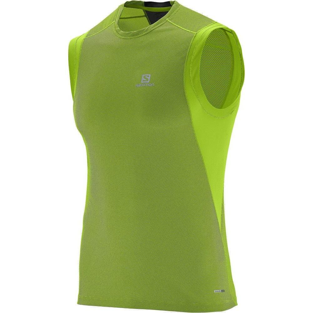 MEN'S SALOMON T-SHIRT TRAIL RUNNER SLEEVELESS TEE-Apparel-33-Off.com