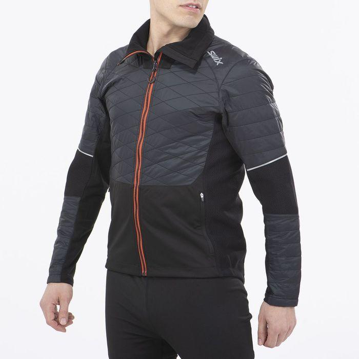Men's Swix Keltten Men's Hybrid Jacket Black-Apparel-33-OFF