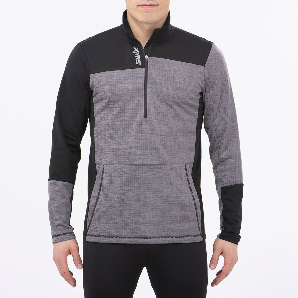 Men's Swix Nybo 1/2 zip sweater Heather/ Charcoal-Apparel-33-OFF