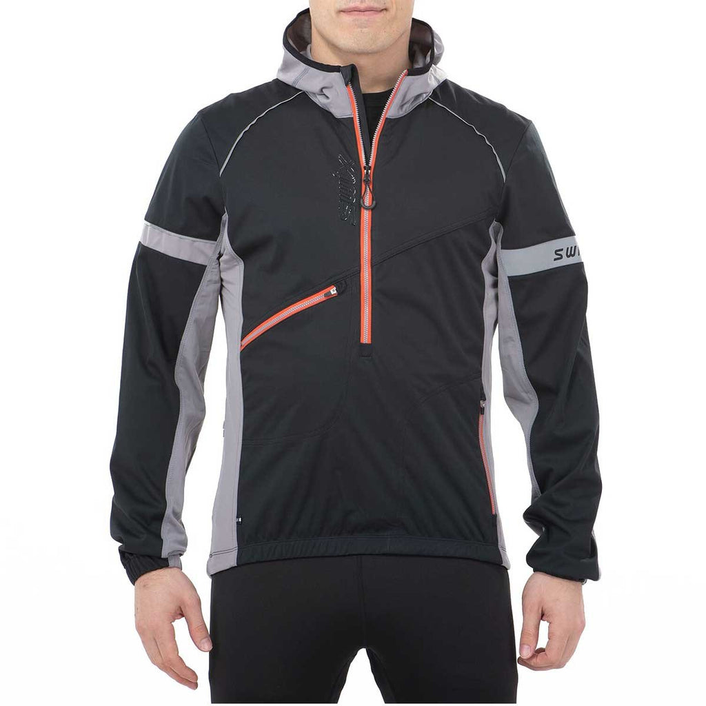 Men's Swix Nybo Pullover Jacket Black-Apparel-33-OFF