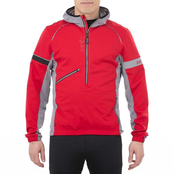 Men's Swix Nybo Pullover Jacket Red-Apparel-33-OFF