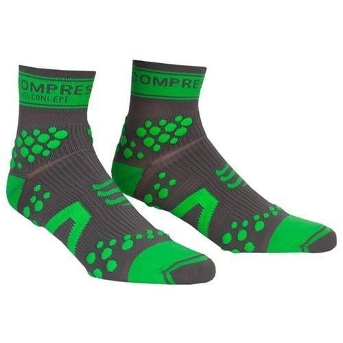 Racing Socks V2 Trail Hi Grey/Green-Shoes-33-Off.com
