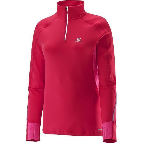 Women's Salomon Trail Runner Warm LS ZP Tee-Apparel-33-Off.com