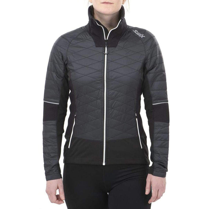 Women's Swix Keltten Hybrid Jacket Black-33-OFF