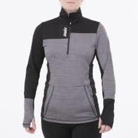 Women's Swix Nybo 1/2 Zip Sweater Heather / Charcoal-Apparel-33-OFF