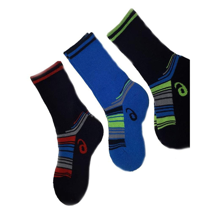 Youth performance stripe mini crew (3 pairs)-Apparel-33-OFF