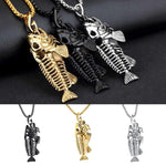 Big Fish Bone Stainless Steel Fishing Necklaces FREE SHIPPING! - sharks jewels
