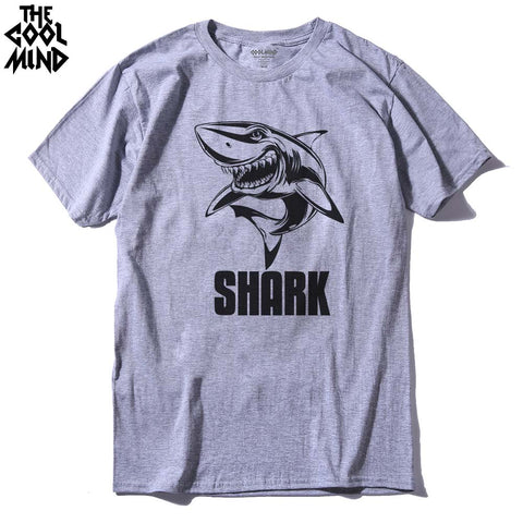 Top Quality 100% Cotton Cool Shark Printed T-Shirt - sharks jewels