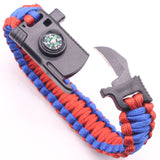 Tactical Survival Bracelet - FREE Global Shipping - sharks jewels