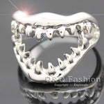 Shark Bite Skull, Hell Demon Ring Size 7 - sharks jewels