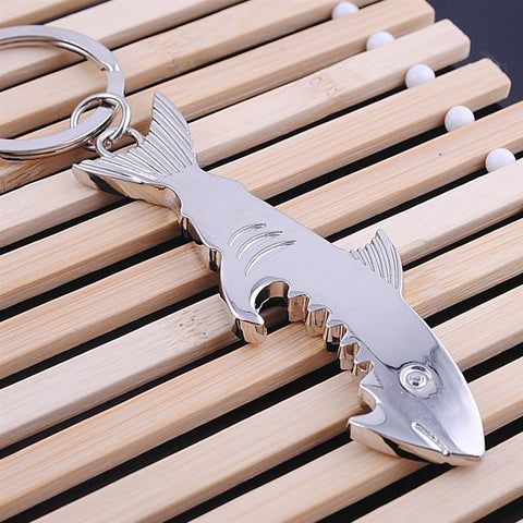 Shark Bottle Opener Keychain Zinc Alloy - sharks jewels