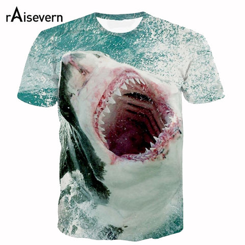 3D Shark Bite T Shirt Full Shirt Wrap - sharks jewels