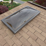 "22.25"" x 46.25"" Rough Opening Aluminum Curb Mount Double Dome Skylight"