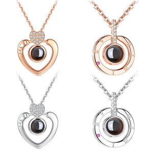 Say 'I Love You' in 100 Languages - Cubic Zirconia Necklace